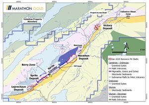 Location Map, Valentine Gold Project. (See News Release Dated February 3, 2020 for a Description of the 2020 Exploration Drill Program).