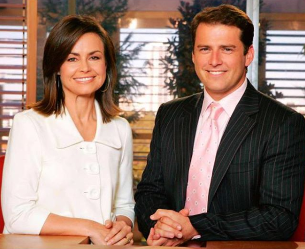 Until recently Lisa, pictured at the start of her career with Today next to Karl, worked for channel Nine. Source: Instagram