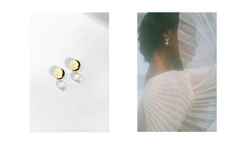 "<p>Here are some elegant drop earrings for the artsy mom.<br><br>Coin Pearl Earrings, $92,<a href=""https://www.youngfrankk.com/collections/ss18/products/coin-pearl-earrings"" rel=""nofollow noopener"" target=""_blank"" data-ylk=""slk:youngfrankk.com"" class=""link rapid-noclick-resp""> youngfrankk.com</a> </p>"
