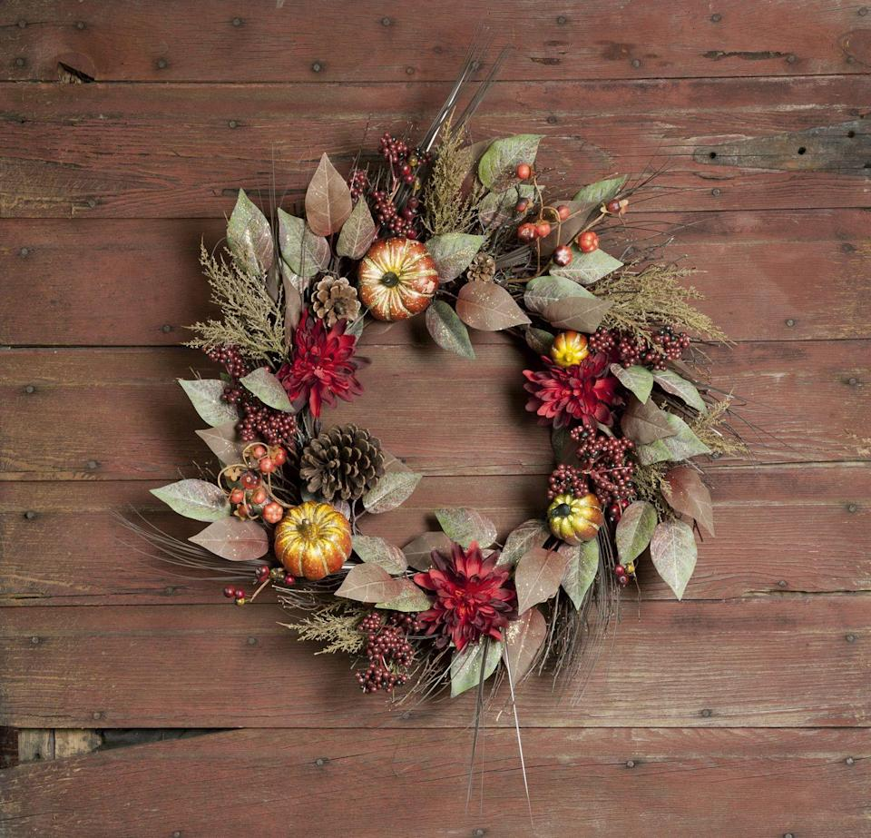 """<p>Sure, you could buy a wreath—or you could spend a little time flexing your creative muscles to make something custom. Peep <a href=""""https://www.oprahmag.com/life/g27868770/fall-wreath/"""" rel=""""nofollow noopener"""" target=""""_blank"""" data-ylk=""""slk:this inspiration"""" class=""""link rapid-noclick-resp"""">this inspiration</a>, then visit your local craft store for all the items necessary to make a stunning wall or door hanging.</p>"""