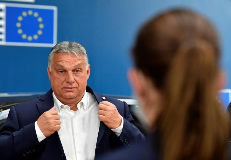 Hungary's Prime Minister Viktor Orban (pictured July 2020) hinted at a possible compromise offer, saying that a deal should contain a clear definition of rule of law and a mechanism for countries to appeal sanctions
