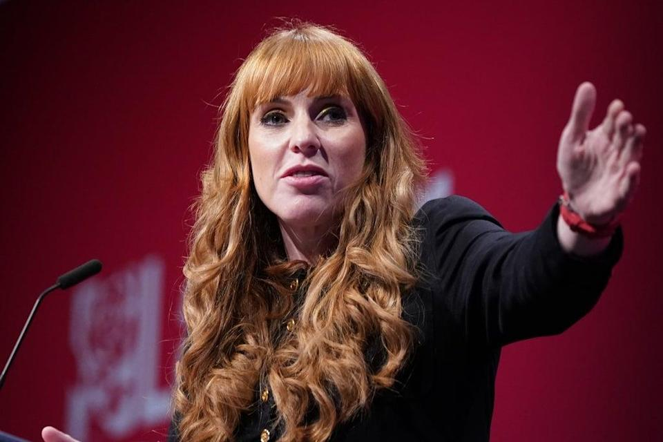 Labour deputy leader Angela Rayner speaks at the Labour Party conference in Brighton (Stefan Rousseau/PA) (PA Wire)