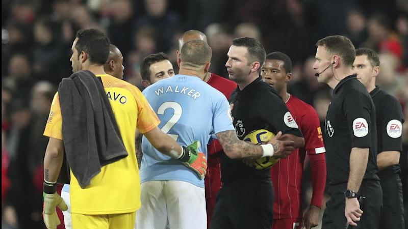 Manchester City were upset with the match officials after losing 3-1 to Liverpool at Anfield