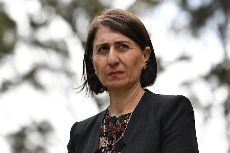 NSW Premier Gladys Berejiklian during a press conference at NSW Parliament House on October 14, 2020 in Sydney, Australia.