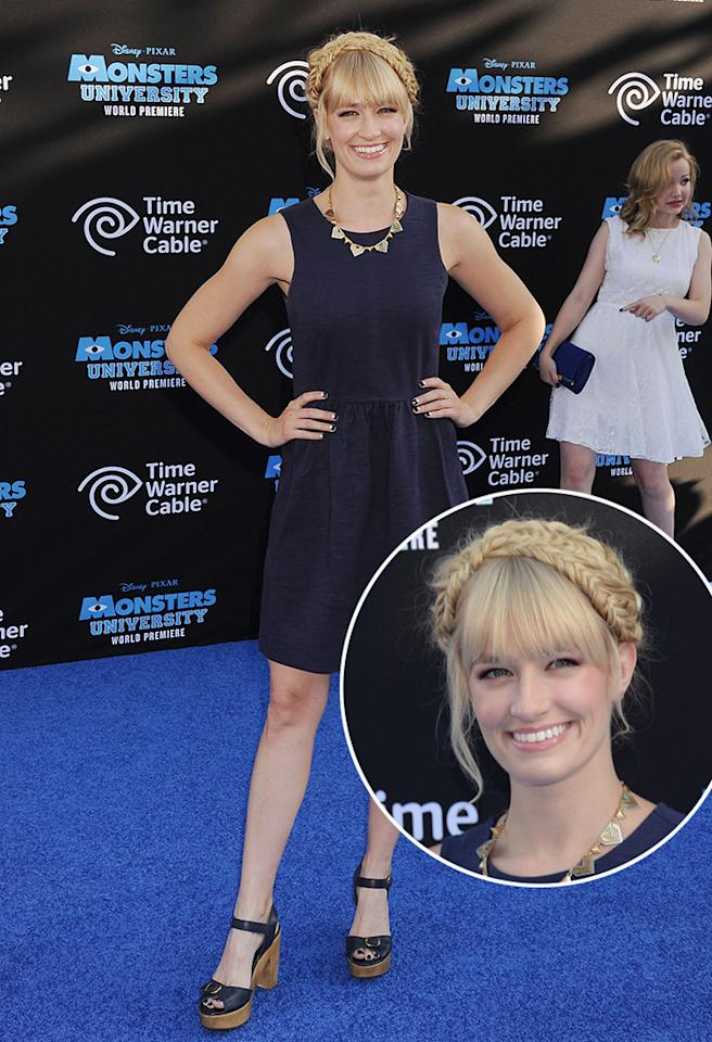 HOLLYWOOD, CA- JUNE 17: Actress Beth Behrs attends the world premiere of 'Monsters University' at the El Capitan Theatre on June 17, 2013 in Hollywood, California.(Photo by Jeffrey Mayer/WireImage)