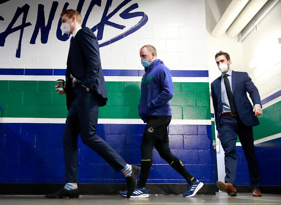 The Vancouver Canucks won't be seeing any games for a while as the team is battling maybe the worst COVID-19 outbreak to hit professional sports. (Getty)