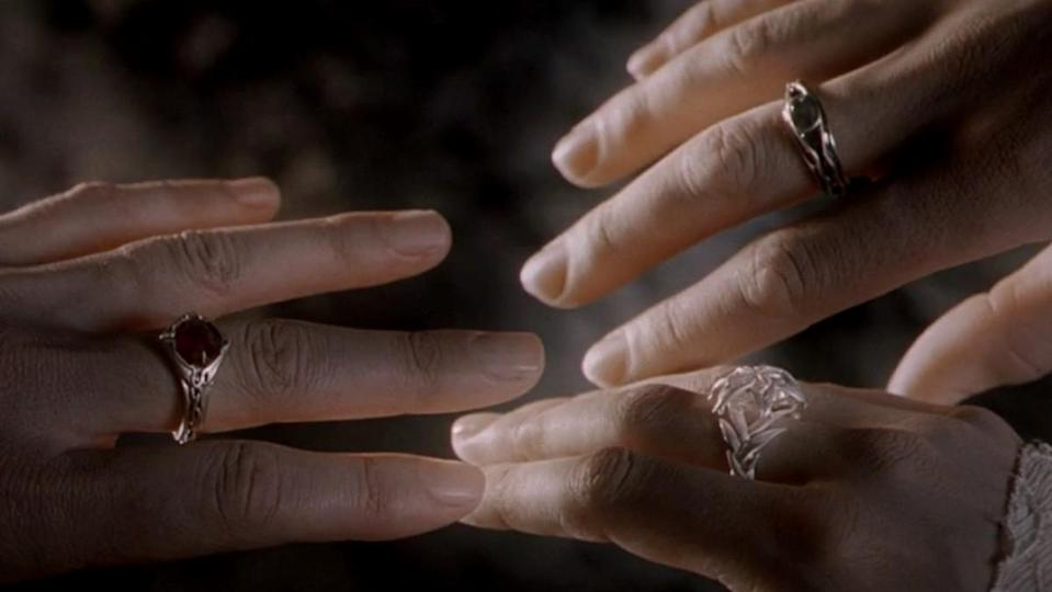 The Elves with their Rings of Power from The Lord of the Rings: The Fellowship of the Ring.