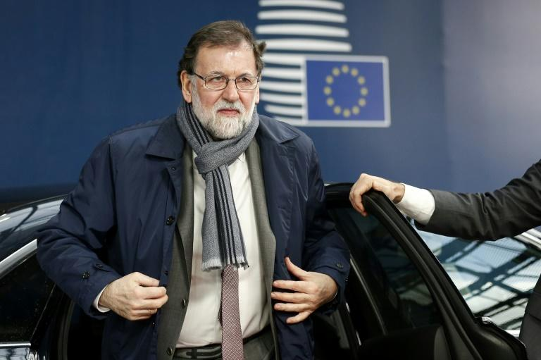 Spanish Prime Minister Mariano Rajoy, seen here ahead of an EU summit in Brussels on Thursday, dissolved the Catalan parliament and called elections in the region