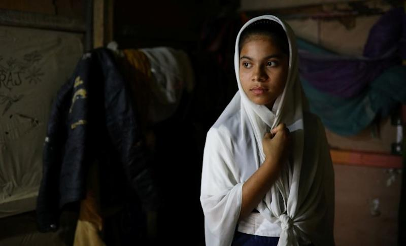 Yasmin, a Rohingya girl who was expelled from Leda High School for being a Rohingya. Photo credit: Reuters/Mohammad Ponir Hossain.