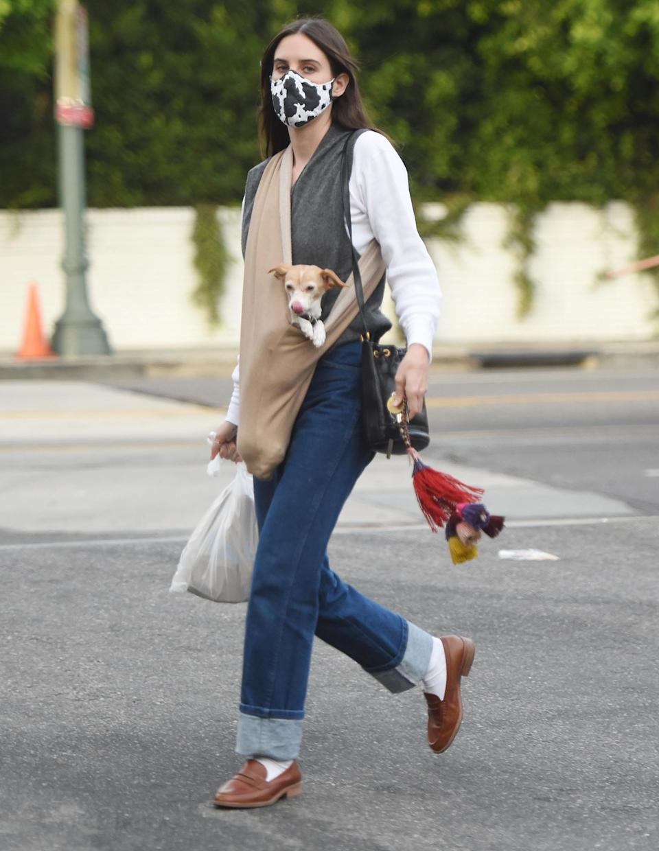 <p>Scout Willis stepped out with her adorable dog in Los Angeles.</p>