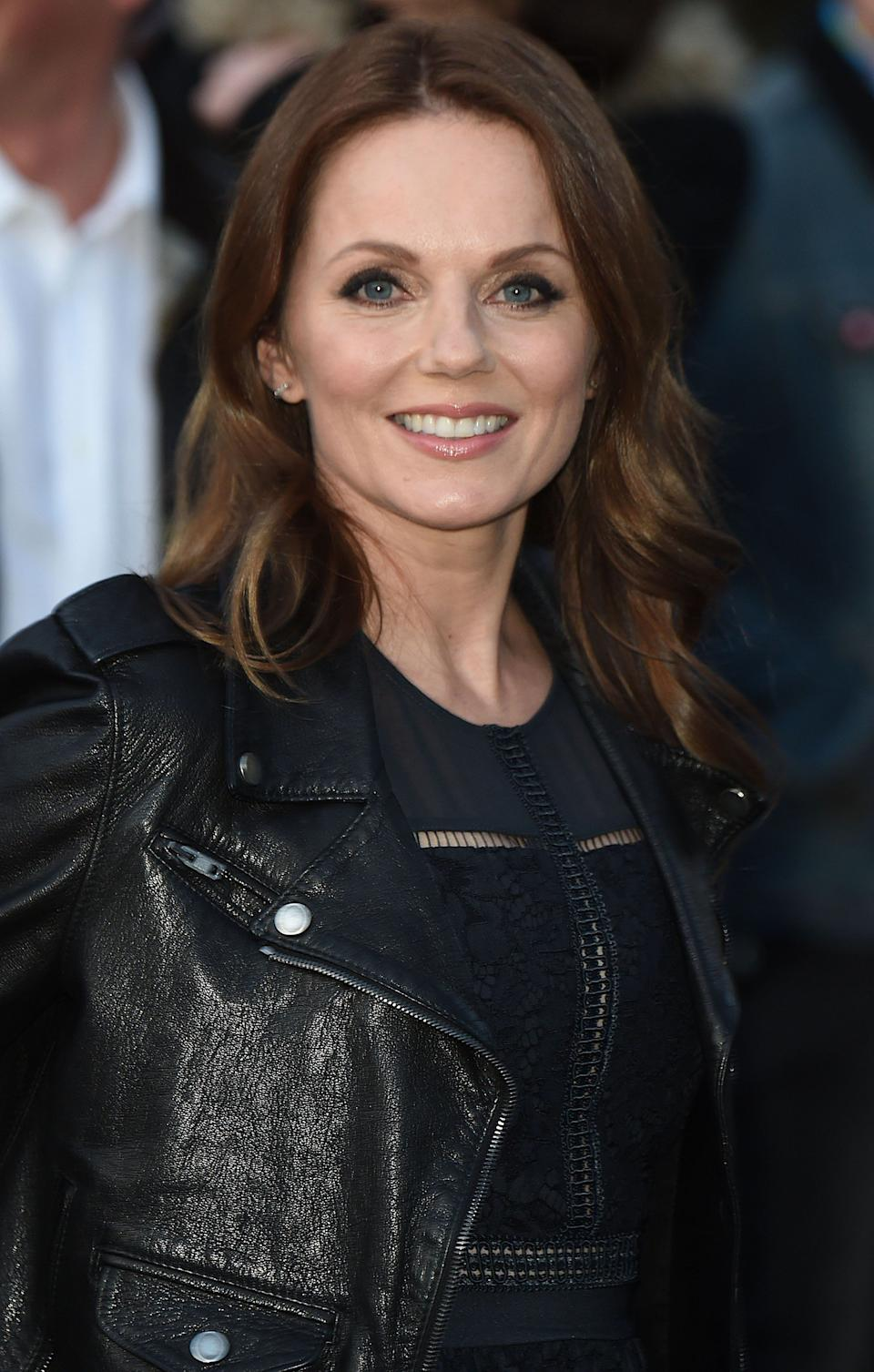 """Photo by: KGC-03/STAR MAX/IPx 2016 4/4/16 Geri Halliwell Horner at the opening night gala for """"Exhibitionism: The Rolling Stones Exhibition"""" at Saatchi Gallery. (London, England, UK)"""