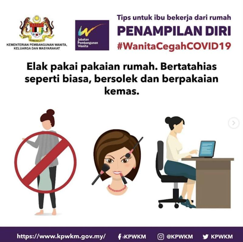 Public Service Announcement by Malaysia's Women and Family Development Ministry.