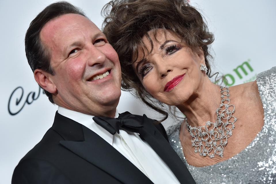 Joan Collins has been married to Percy Gibson for 18 years