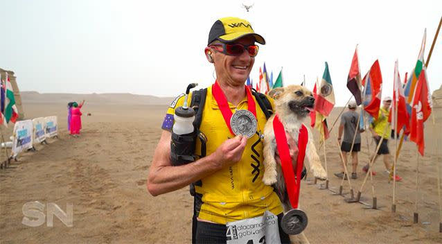 Gobi followed Dion across the desert, the pair finishing the gruelling marathon in second place.