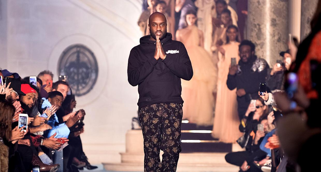 Designer Virgil Abloh at the Off-White show as part of the Paris Fashion Week Womenswear Fall/Winter 2018/2019 on March 1. (Photo: Francois Durand/Getty Images)