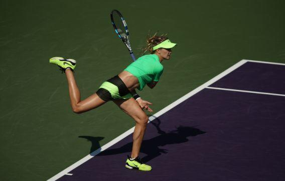 "<p>La tennista canadese Eugenie Bouchard non ha usato mezze parole per definire la collega Maria Sharapova: ""E' un'imbrogliona"". (Photo by Julian Finney/Getty Images) </p>"