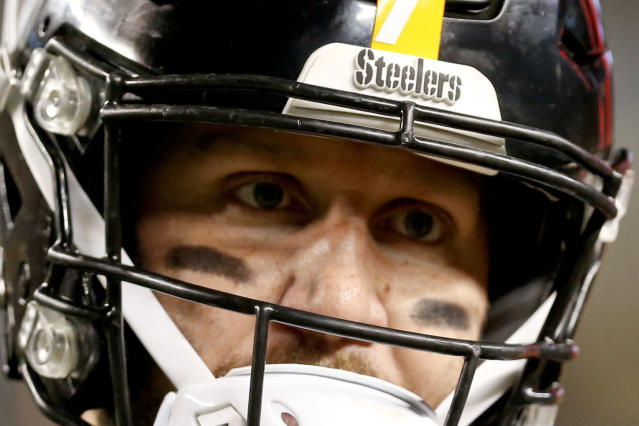 The fear in Ben Roethlisberger's eyes sums it up. In recent meetings, Baltimore has had his number. (AP Photo/Keith Srakocic, File)