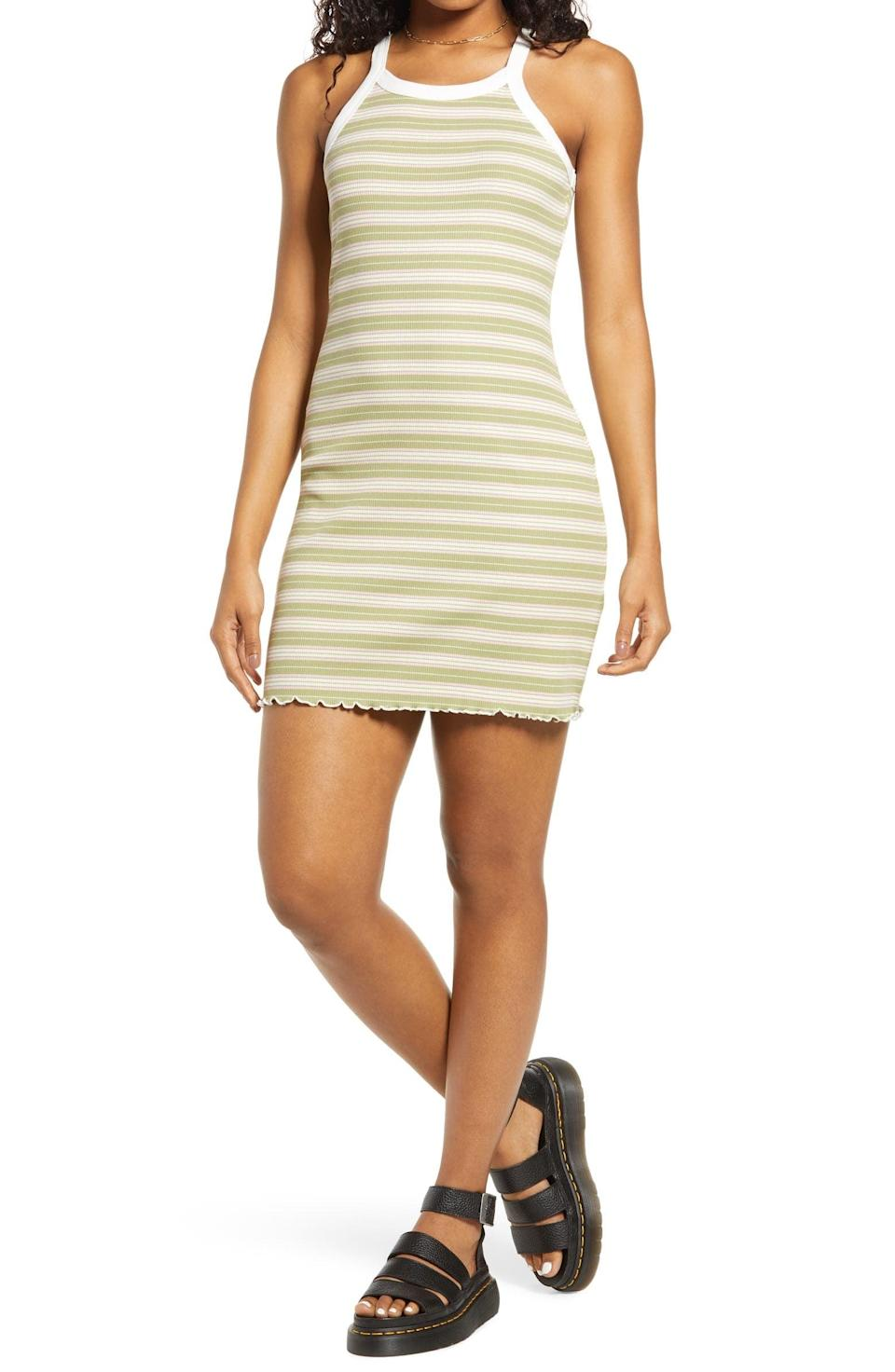 <p>Casual hangs will still be made stylish when you style this <span>BP. Ringer Rib Tank Dress</span> ($29) with some cute slide sandals or low-heeled white mules.</p>