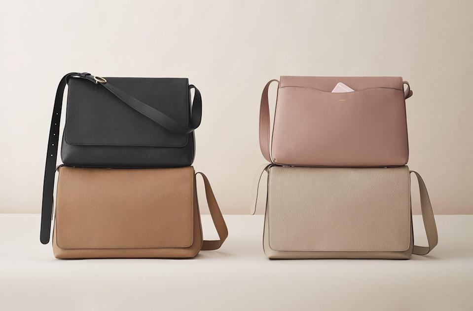 <p>This <span>Cuyana Messenger Bag</span> ($345) features so many useful pockets inside, including a slot specifically for your laptop. Wear it as a classic crossbody, or shorten the strap to create a shoulder bag.</p>