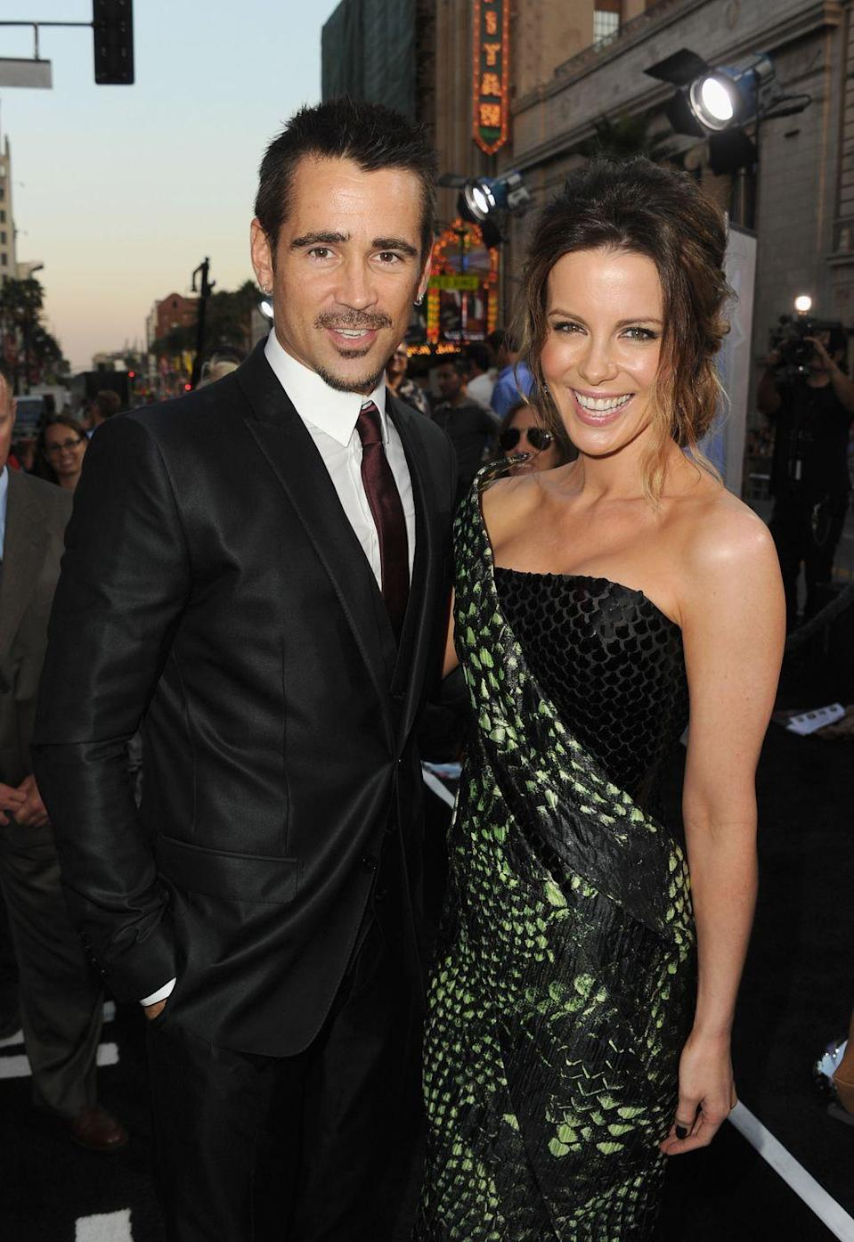 "<p>Locking lips with your costars is totally a normal part of the job, but when the director happens to be married to one of the movie's stars things can get complicated! Just ask Colin Farrell. Talking to TV host <a href=""https://www.youtube.com/watch?v=LYAvYqsT2QE"" rel=""nofollow noopener"" target=""_blank"" data-ylk=""slk:Conan O'Brien"" class=""link rapid-noclick-resp"">Conan O'Brien</a>, he revealed how weird it was to kiss Beckinsale for <em>Total Recall</em>.</p><p> ""She's actually the director's wife. She's married to the director. [It was] moderately uncomfortable,"" he said. ""Kissing her was a little bit dodgy 'cause the director, her husband, wasn't kind enough to leave the room.""</p>"