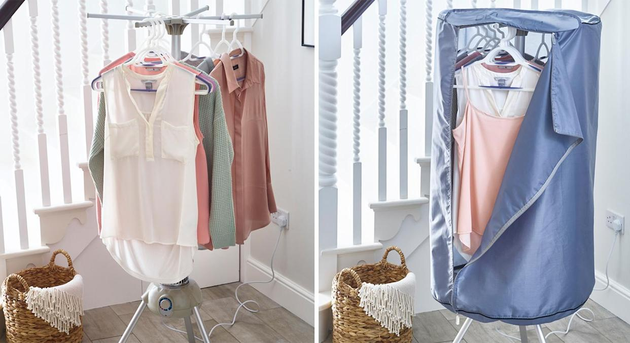 Make laundry day a breeze with a drying pod, so you no longer have to wait for sunny days to hang your washing on a line.  (Lakeland)