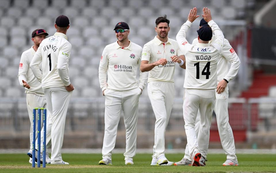James Anderson celebrates the wicket of Marnus Labuschagne - GETTY IMAGES
