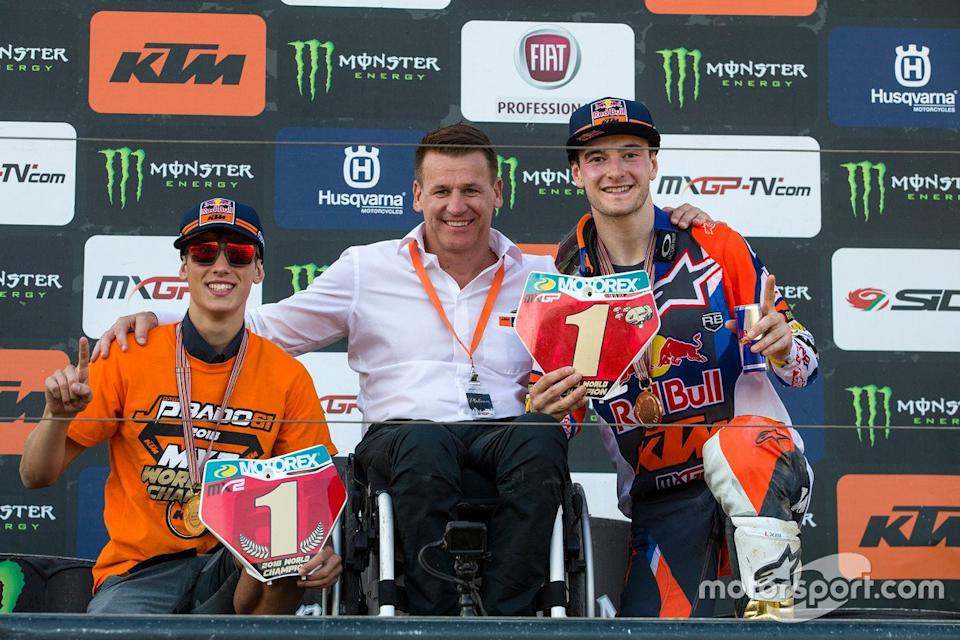 "Jorge Prado, Pit Beirer y Jeffrey Herlings, Red Bull KTM Factory Racing<span class=""copyright"">Ray Archer</span>"