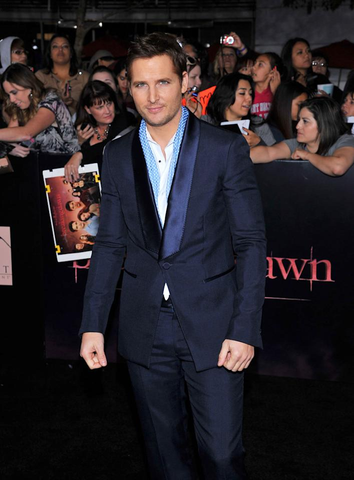 "<p class=""MsoNoSpacing""></p>Peter Facinelli arrives at the red carpet premiere for ""The Twilight Saga: Breaking Dawn – Part 1"" in Los Angeles, CA. (Photo by Vince Bucci/Yahoo!)"