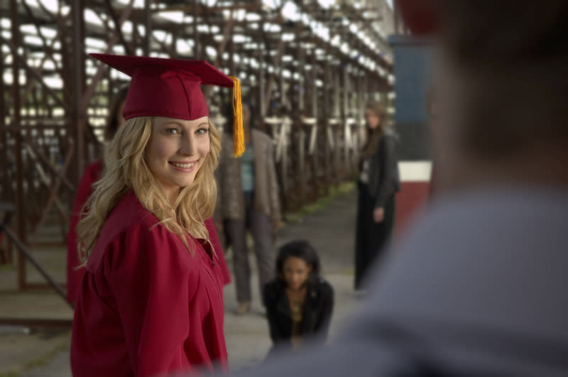 """Graduation"" -- Candice Accola as Caroline"