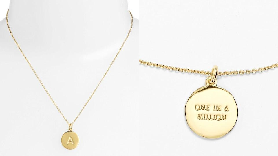 Best personalized gifts: Kate Spade New York One in a Million Initial Pendant Necklace