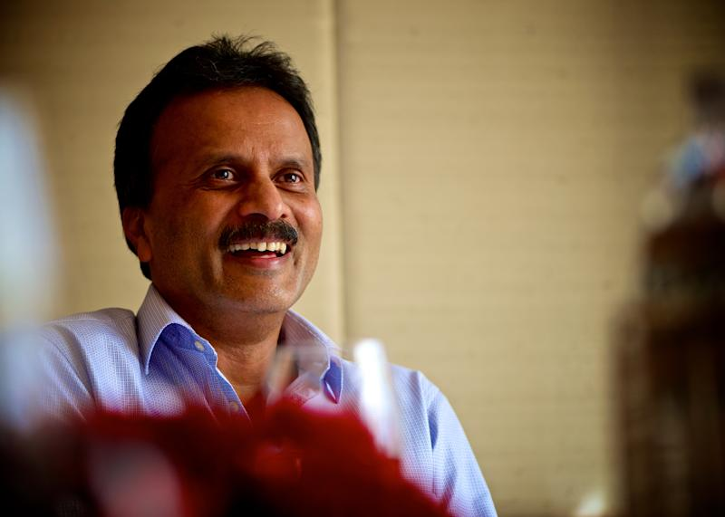 NEW DELHI, INDIA - SEPTEMBER 26: VG Siddhartha, founder-owner, Chairman and MD of Coffee Day Enterprises Limited, poses for a profile shoot on September 26, 2015 in New Delhi, India. Coffee Day Enterprises Ltd. is the holding company of the Cafe Coffee Day (CCD) chain of restaurants. Café Coffee Day is the largest chain of coffee shops in India, with 1,640 cafes outlets, including outlets in Prague, Vienna and Kuala Lumpur. (Photo by Priyanka Parashar/Mint via Getty Images)