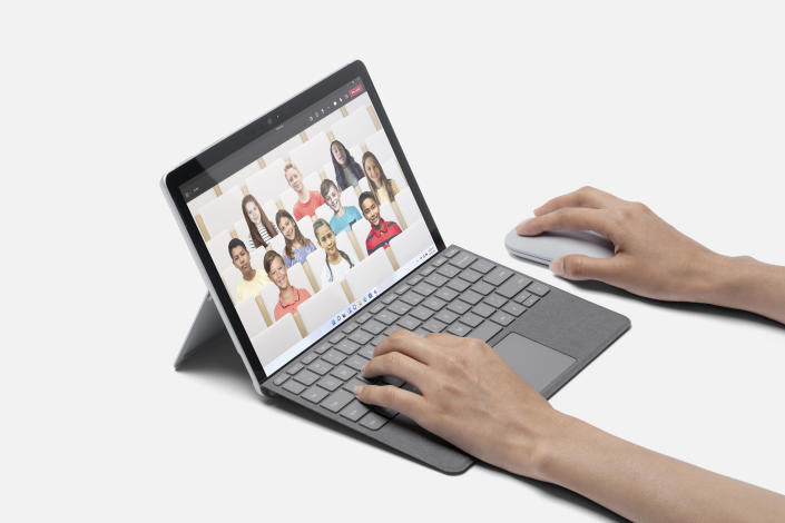 The Surface Go 3 is a lighter refresh with more processing power. (Image: Microsoft)