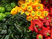 """<p>Peppers of all kinds, from mildly sweet bell peppers to fiery habaneros, are in season from July through October. Bell peppers shine when eaten raw with hummus or when <a href=""""https://www.thedailymeal.com/recipes/stuffed-peppers-recipe-24?referrer=yahoo&category=beauty_food&include_utm=1&utm_medium=referral&utm_source=yahoo&utm_campaign=feed"""" rel=""""nofollow noopener"""" target=""""_blank"""" data-ylk=""""slk:stuffed and baked"""" class=""""link rapid-noclick-resp"""">stuffed and baked</a>. <a href=""""https://www.thedailymeal.com/chorizo-and-poblano-tacos-recipe?referrer=yahoo&category=beauty_food&include_utm=1&utm_medium=referral&utm_source=yahoo&utm_campaign=feed"""" rel=""""nofollow noopener"""" target=""""_blank"""" data-ylk=""""slk:Poblanos make a great addition to a taco filling"""" class=""""link rapid-noclick-resp"""">Poblanos make a great addition to a taco filling</a>. Hotter peppers are best when <a href=""""https://www.thedailymeal.com/recipes/pineapple-habanero-salsa-recipe?referrer=yahoo&category=beauty_food&include_utm=1&utm_medium=referral&utm_source=yahoo&utm_campaign=feed"""" rel=""""nofollow noopener"""" target=""""_blank"""" data-ylk=""""slk:turned into salsa"""" class=""""link rapid-noclick-resp"""">turned into salsa</a> or other dips.</p>"""