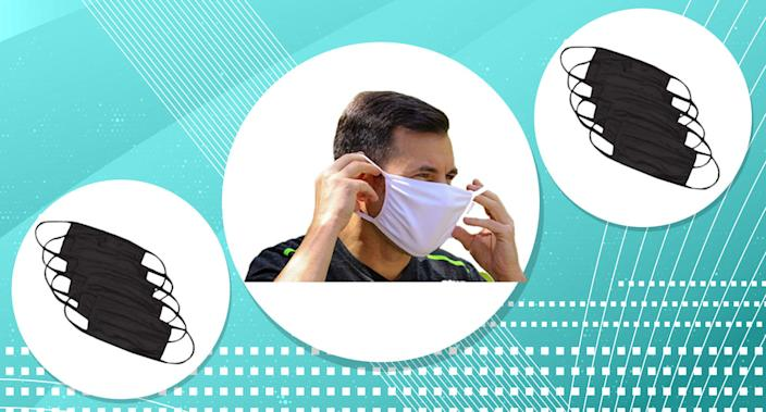These antimicrobial face masks are simple and effective, and come in black and white. (Photo: Amazon)