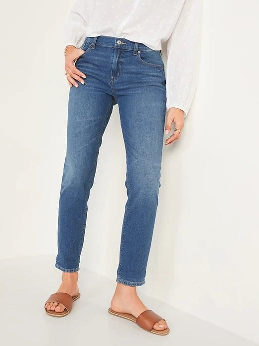 <p>These soft <span>Old Navy Mid-Rise Boyfriend Straight Jeans for Women</span> ($32, originally $35) are slightly slouchy when you want a loose fit that's not overly baggy.</p>
