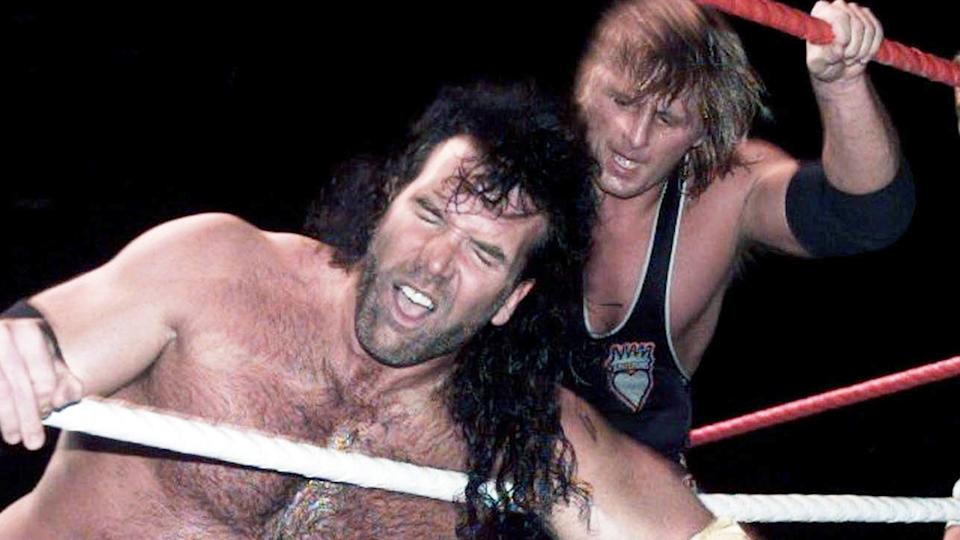 Owen Hart, pictured here in action against Razor Ramon in the WWF in 1995.