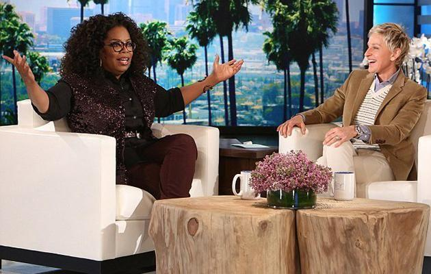 Oprah made an appearance on the Ellen show back in 2015. Source: Michael Rozman/Warner Bros
