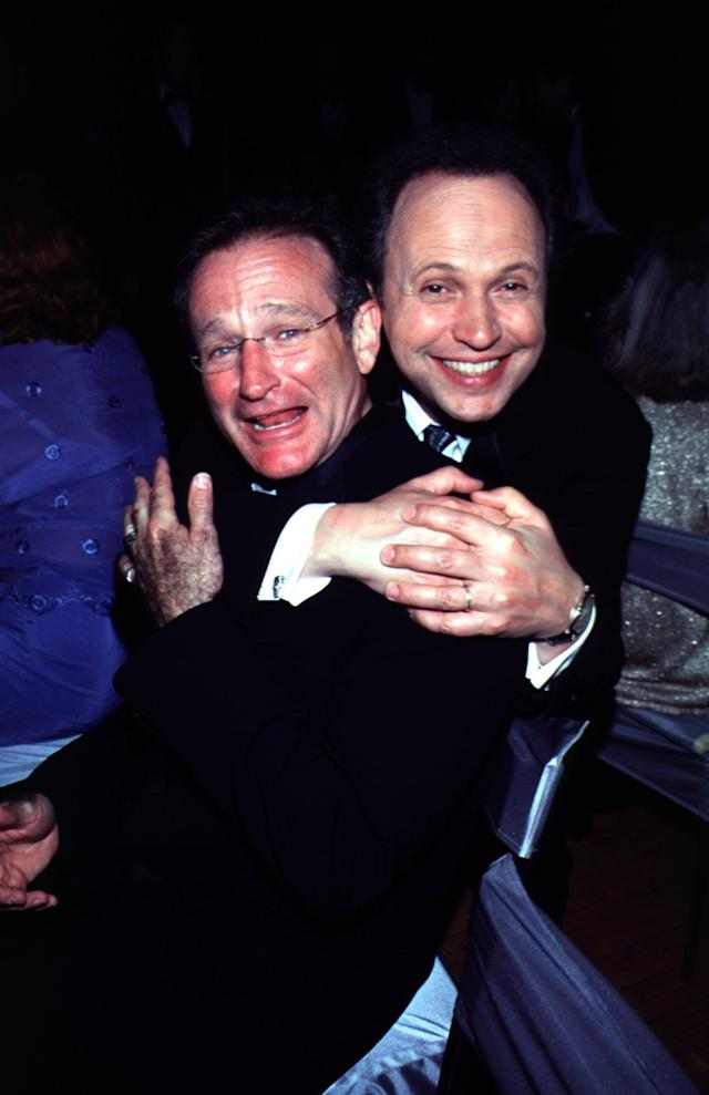 Billy Crystal and Robin Williams at the Governor's Ball after the 2000 Academy Awards. (Photo: KMazur/WireImage)