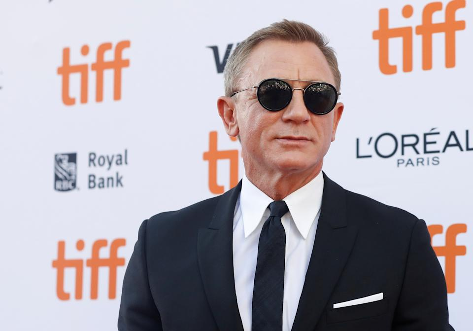 """Cast member Daniel Craig arrives for the special presentation of """"Knives Out"""" at the Toronto International Film Festival (TIFF) in Toronto, Ontario, Canada September 7, 2019. REUTERS/Mario Anzuoni"""
