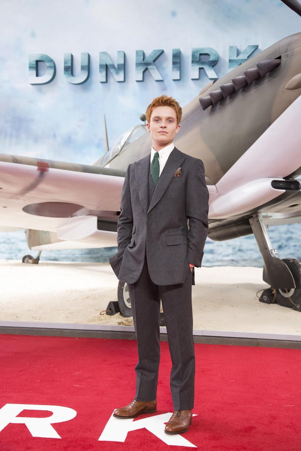 <p>Tom Glynn-Carney plays Mark Rylance's son Peter who also travels to Dunkirk (WB) </p>