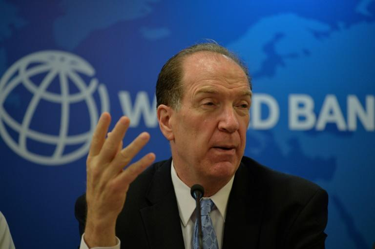 World Bank President David Malpass said everyone should be concerned about the massive surge in debt in developing countries (AFP Photo/Sajjad  HUSSAIN                     )