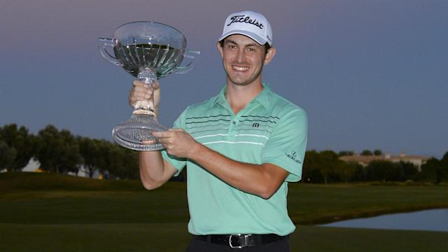 Patrick Cantlay, 25, parred the second play-off hole to overcome Alex Cejka and Kim Meen-whee in Las Vegas on Sunday.