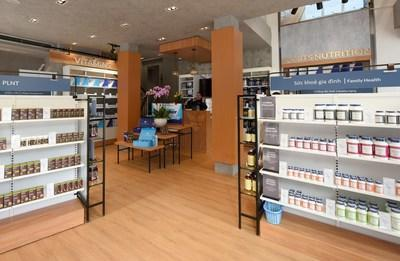Inside the first location of The Vitamin Shoppe in Hanoi, Vietnam.
