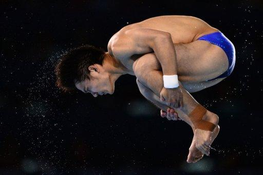 China's Qiu Bo competes in the men's 10m platform final at the London 2012 Olympics on August 11. China won six of the eight titles on offer in London but failed to secure their target of a clean sweep, as they did at last year's world championships