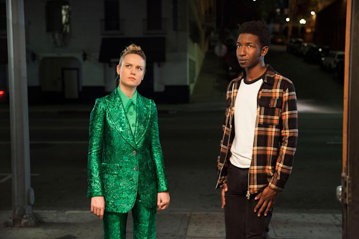 """<p>Brie Larson directed and stars in this quirky indie movie about a woman working at a boring office job after failing out of art school who is magically given the opportunity to fulfill her childhood dream: adopting a unicorn. It's worth watching for the green suit Larson wears alone. </p> <p><a href=""""https://www.netflix.com/title/81034317"""" rel=""""nofollow noopener"""" target=""""_blank"""" data-ylk=""""slk:Available to stream on Netflix"""" class=""""link rapid-noclick-resp""""><em>Available to stream on Netflix</em></a></p>"""