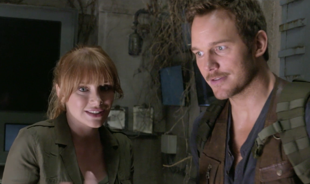 Bryce Dallas Howard and Chris Pratt (Universal Pictures Home Entertainment)