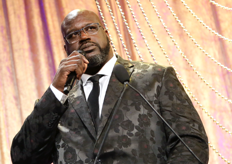 Shaquille O'Neal speaks onstage during the 19th Annual Harold and Carole Pump Foundation Gala at The Beverly Hilton Hotel on August 09, 2019 in Beverly Hills, California. (Photo: Tiffany Rose/Getty Images)