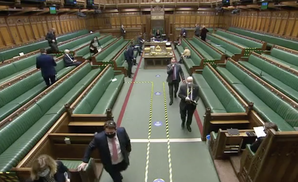 MPs voting on the amendment on Tuesday night (UK Parliament)