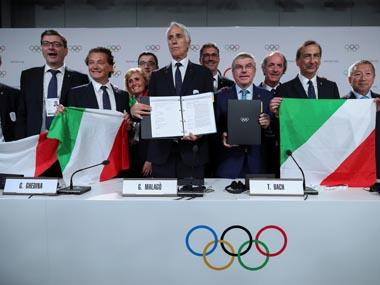 International Olympic Committee elects Milan-Cortina d'Ampezzo as host for 2026 Winter Olympics
