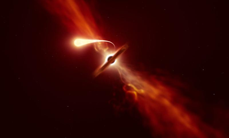 Rare 'Death by Spaghettification' captured as monster black hole shreds a star